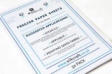 Silkcraft Freezer Paper Sheets x 50 - A4 -SIZE BARGAIN