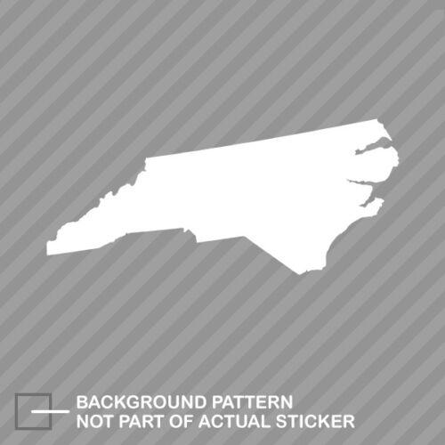 North Carolina Shaped Sticker Die Cut Decal NC