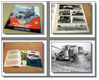 Biso Häcksler /& Gebläse 3 Prospekte 1981