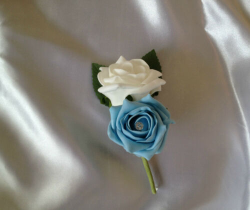 BUTTON HOLES CORSAGES MANY COLOURS STYLES AVAILABLE PICK A STYLE EMAIL COLOUR