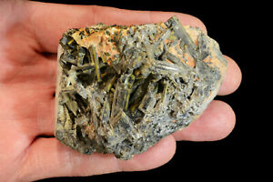 Epidote-Crystal-Cluster-3-034-x-2-034-11-Oz-Rocks-and-Minerals-Healing-Crystals