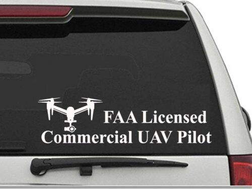 FAA Licensed Commercial UAV Pilot DJI Inspire Drone decal sticker UAS Registered
