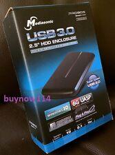 "Mediasonic USB 3.0 HDD Enclosure for 2.5"" SATA I/II/III Hard Drive, Black"