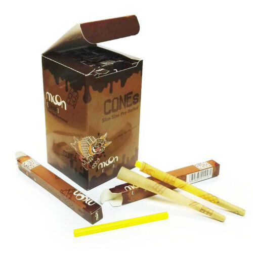 Banana Flavor Combo Pre-Rolled Cones Rolling Papers King Size Slim MOON Coco