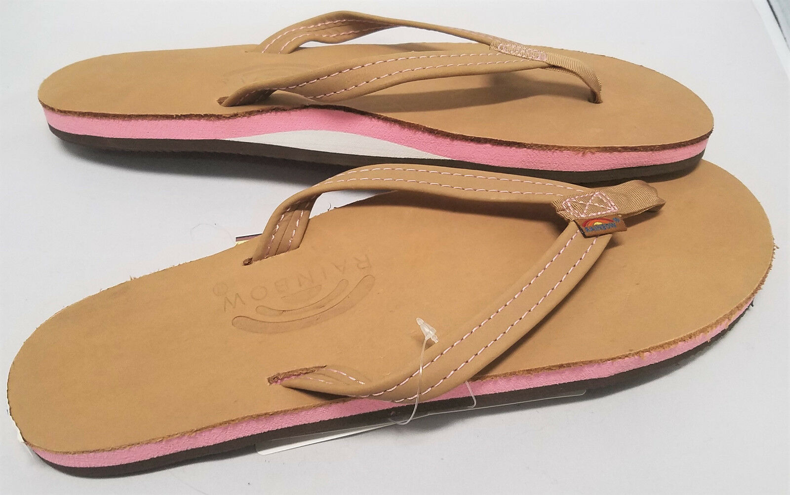 Small RAINBOW The Tropics Tropics Tropics Narrow Strap Premier Leather Flip Flops SIERRA BERRY 0555e5