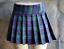 Junior de taille plus classique vert//violet écolière écossais Plissé Mini Jupe