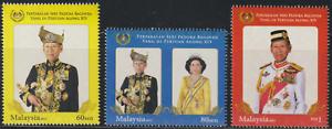 (443)MALAYSIA 2012 INSTALLATION OF AGONG SET 3V FRESH MNH