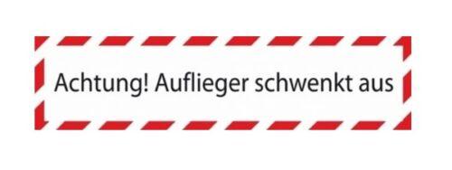 Hinweisschild in verschiedenen Ausführungen LKW Schild Warnschild