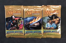 Magic Mtg Modern Masters 2013 Factory sealed Booster Pack X 3 !