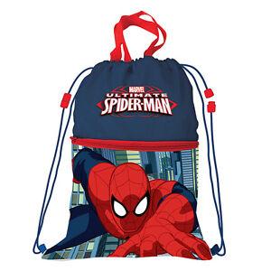 HOMBRE ARAÑA mochila bolsa soporte zapatos tiempo libre con bolsillo delantero