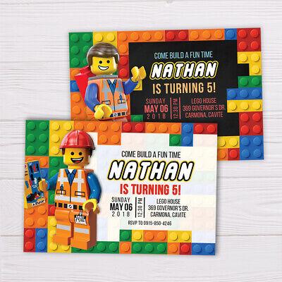 Lego Invitation Printable Digital Ebay