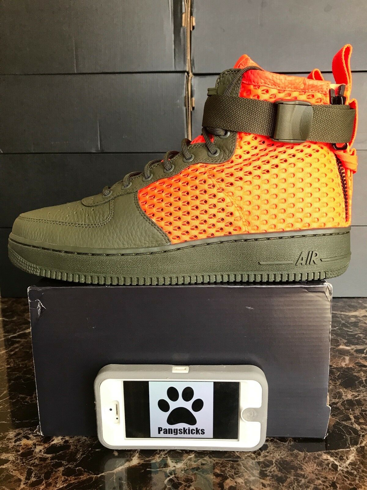 Nike Air Force 1 MID SF Special Field Khaki Crimson AA7345-300 Size 9.5-10.5