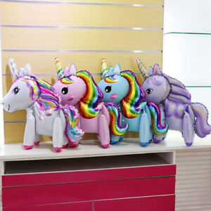 Diy Rainbow Horse Foil Balloons Walking Balloons Birthday Party