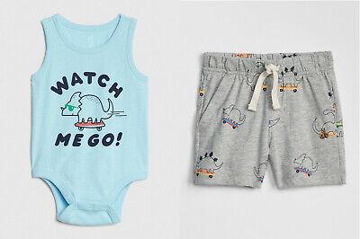 NWT Gymboree Skate Tank Top and Shorts set Baby Boy 6-12 18m