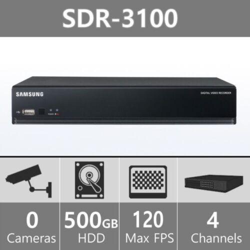 Samsung SDR-3100N DVR 4 Channel Security System 500GB SDC-5340BC SDR-3102N