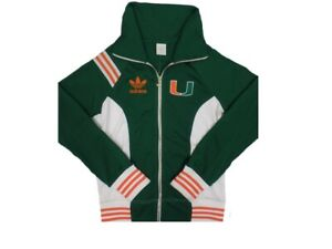 165499c499 Details about Adidas University of Miami Hurricanes NCAA Men's Full Zip  Warm Up Sweater