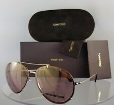 Tom Ford Oval Sunglasses TF527 Dickon 49J Antique Brown 61mm FT0527