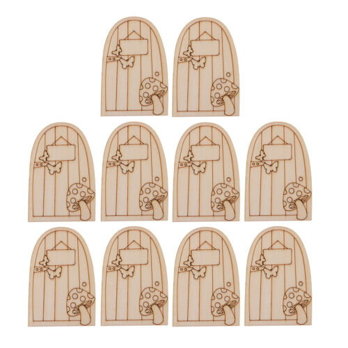 10× Magical Fairy Door Garden House Wooden Plaque Mini Sign Christmas Decor