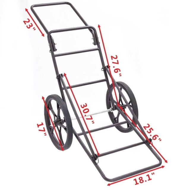 Game-Cart Conversion Kit Turns Lone Wolf Climbing Tree Stand to Game//Gear Hauler