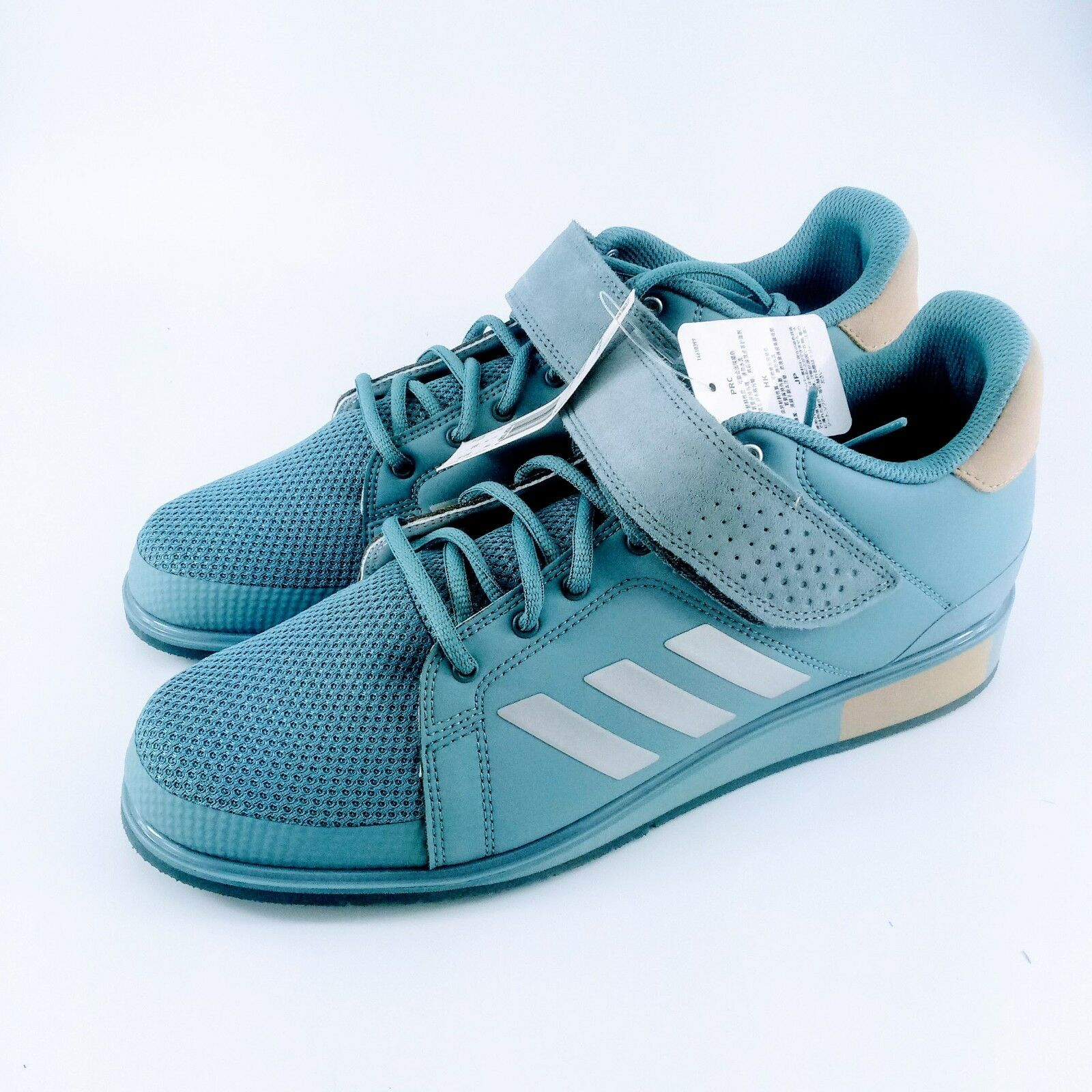 adidas Power - Perfect 3 Weighlifting Shoes - Power Blue/Raw Grey - DA9878 - Size: 11.5 558666