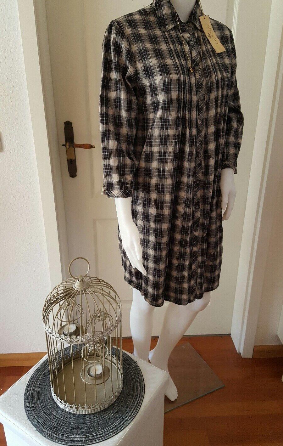 ❤️ Scotch & Soda Pleated Kleid Longshirt Shirt Blause Hemd kariert Gr. S ❤️ NEU