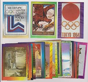 1996-CENTENNIAL-OLYMPIC-GAMES-DUFEX-POSTER-CARD-COMPLETE-SET-20-L-K