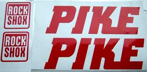 2 ROCKSHOX PIKE RED Decals stickers Bike Fork 454 426