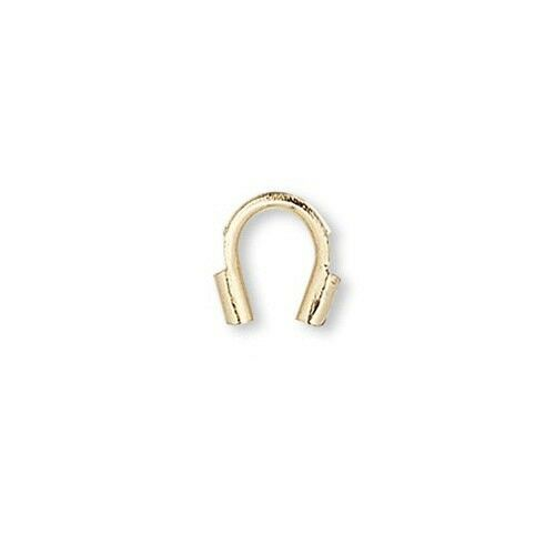 100 Wire Guards a Protector Jewelry Finding for Wire in a Preformed Horseshoe