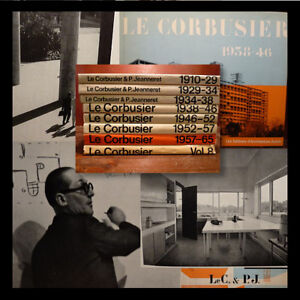ARCHITETTURA-Le-Corbusier-Opere-Oeuvre-Complete-8-voll-Zurich-Boesiger-JEANNERET