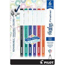 Pilot Frixion Fineliner 06mm Fine 6 Erasable Marker Pens Fxfc6001