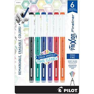 Pilot FriXion Extra Fine Point Erasable Gel Pens 6//Pkg Assorted C 072838465245