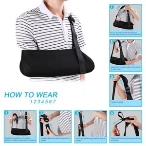 Adujustable-Foam-Shoulder-Arm-Sling-Universal-Pain-Relief-Fractures-Sprained