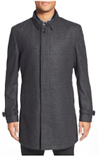 TED BAKER 2 in 1 ALABAMA Textured Wool COAT Removable GILLET Charcoal Grey 42 R