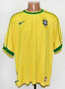 BRAZIL NATIONAL TEAM 1998/2000 HOME FOOTBALL SHIRT JERSEY NIKE SIZE XL ADULT