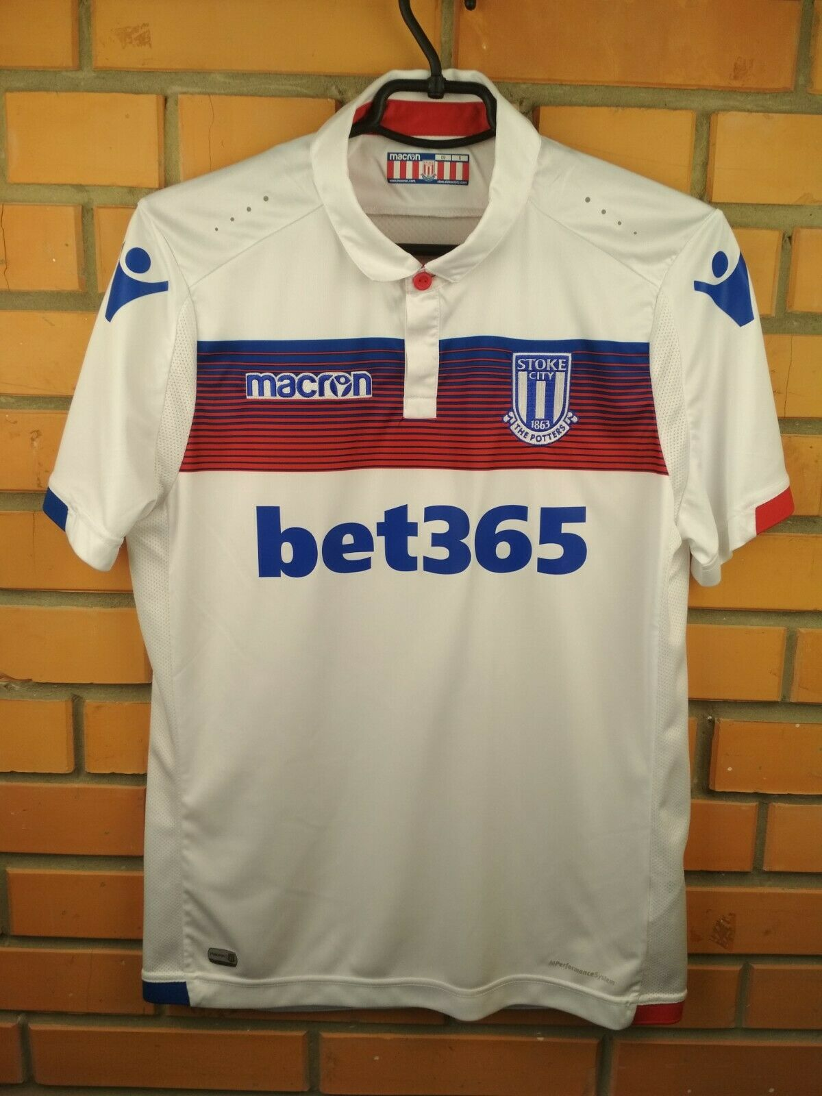 Stoke City player issue jersey S 2017 2018 third shirt soccer football Macron