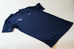 size Large New Women/'s Craft Team Novo Nordisk In-The-Zone Tee Shirt Navy