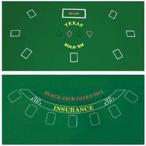 Ordinaire Image Is Loading Cover Sealed Poker Table Top Green Mat Pad