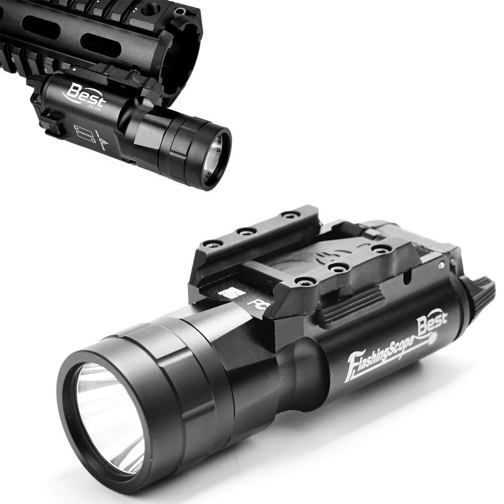 X300 Ultra LED 600 Lumen FlashLight W  QD 20mm Rail Clamp Pistol Handgun Rifle