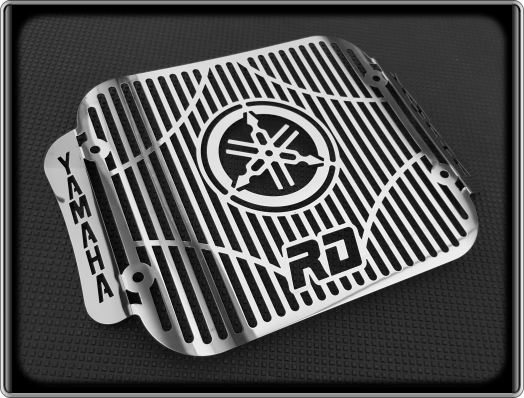 Polished Radiator Cooler Grill for YAMAHA RD350 LC, RD 350