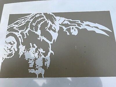 MULTILAYER AIRBRUSH STENCIL LUNCH TIME  NOT MULTILAYER