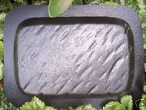 "plain 1//8th/"" plastic rain brick mold concrete plaster casting mould 9/"" x 6/"" x 2/"""