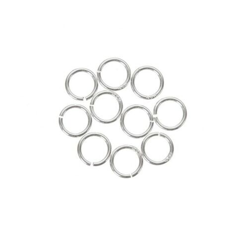5mm Open Jump Rings 925 Sterling Silver 0.6mm Thick Pack of 10 A86//12