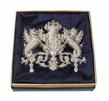 Exclusive Elegant Stylish Sterling Silver Portuguese Coat of Arms Brooch Pin