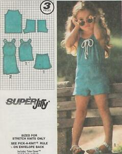 Toddler-Super-Jiffy-Pullover-Dress-or-Top-amp-Shorts-Sewing-Pattern-Size-3-Uncut