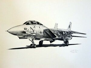 Fighters-Helicopters-F-14-F-15-F-16-F-18-C-130-T-37-SR-71-10-Aviation-Art-Lot-10