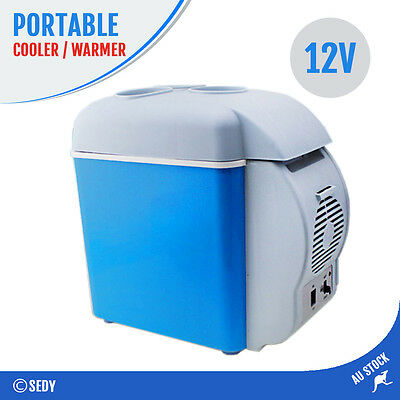 2x 7.5L 12V Personal Fridge Warmer Cargo Cooler for Food Drink Car Truck Camping