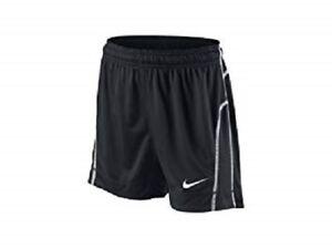 miglior sito web c6d06 72cbd Dettagli su Nike Donna Drifit Brasilia i Pantaloncini Neri/Bianco 100%  Poliestere Nuovo