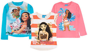 e9f81c0f6 Girls Disney Moana Vaiana T Shirt Short Long Sleeved Character Top ...