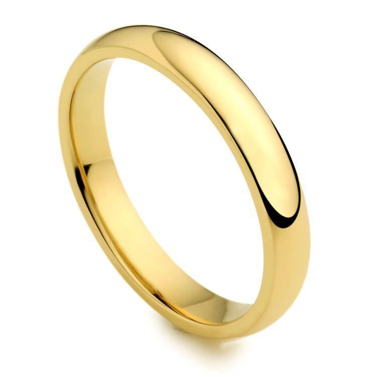 BRAND NEW 18CT YELLOW gold COURT WEDDING RING HANDMADE 2MM-4MM MEDIUM WEIGHT