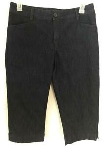 Lee-pants-size-12-denim-blue-just-below-waist-capris-4-pockets